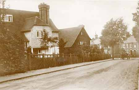 Historic view of Hook Heath road