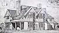A sketch of the house Hook Hill in around 1893