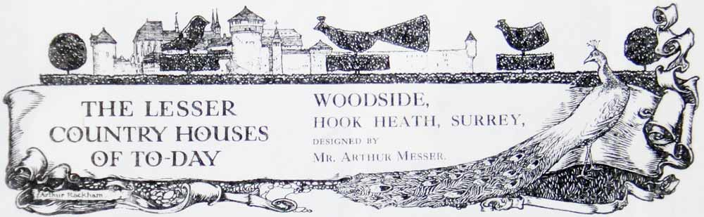 The banner from a Country Life article about Perran House - originally Woodside